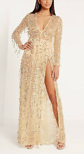 MISGUIDED STUNNING SEQUIN MAXI DRESS IN GOLD (14)