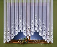 Jardiniere Net Curtain White Slot Top Ready Made Window Panel