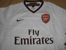 Rare Nike Dri Fit Arsenal White Away Jersey for 2007-08 09 Season Jersey Size XL