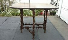 Antique Wooden Gate Leg Drop Leaf Table Early 1900's