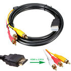 5Ft 1.5M HDMI-Male to 3 RCA Video Audio AV Cable Cord Adapter For 1080P HDTV AU
