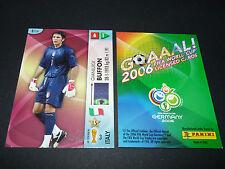 GIANLUIGI BUFFON ITALIA PANINI CARD FOOTBALL GERMANY 2006 WM FIFA WORLD CUP