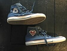 New Converse Superman logo blue shoes high tops tennis sneakers Youth 3