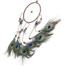 2016 Handmade Peacock Feather Dream Catcher Circular Wall Car Hanging Ornament