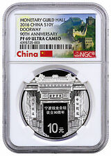 2016 China 10 Yuan 30g Proof Silver 90th Ningbo Money Hall NGC PF69 UC SKU41574