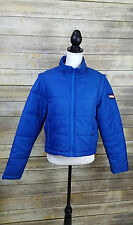 Tommy Hilfiger 90s TOMMY JEANS Blue Full Zip Down Puffer Coat Size Women's Large