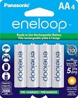 Panasonic NEW eneloop 4 Pack AA 2000mAh Ni-MH Pre-Charged Rechargeable Batteries