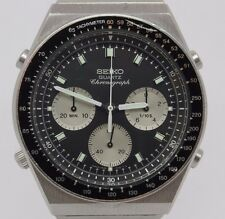 c.1983 Seiko Quartz Chronograph Mens Steel Watch 7A28-7039 Original Bracelet