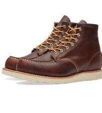 Red Wing 8138 6in Moc Toe Brown Boots Size UK 10 EUR 44.5 Brand New Boxed