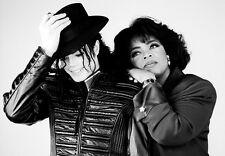 Famous Pop Star Micheal Jackson with Oprah Winfrey A3 Art Poster Print