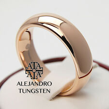 Tungsten Ring Wedding Comfort Fit Band 6MM Delicate Rose Gold Size 13.5 #NXE