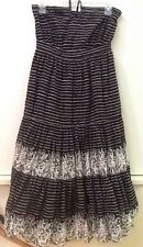 GAP Classic Black White Striped Full Skirt Halter Dress Sz. 4