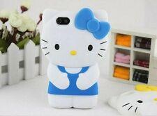 3D Hello Kitty Lindo Suave Funda Protectora Cubierta posterior de silicona para Apple iPhone 5