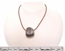 "Tiger Iron 22"" Brown Leather Cord 1.5mm Necklace SS Hook Clasp A011-13"