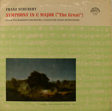 """SCHUBERT SYMPHONY IN C MAJOR THE GREAT FRANZ KONWITSCHNY 12"""" LP (h689)"""