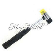 Dual-purpose Punch Rubber Hammer Black Heavy Duty Leather Handheld Tool DIY J