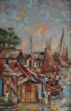 EMANUEL EMMANUEL PIERRE CHARLES HAITIAN PAINTING LISTED ARTIST SIGNED SEASCAPE
