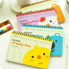 """We R Animals"" 1pc Cute Coil Weekly Planner Agenda Scheduler Journal Notebook"