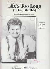 Life's Too Long (To Live Like This) - Ricky Skaggs - 1990 Sheet Music