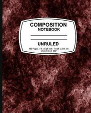Unruled Composition Notebook : Red Marble, Unruled Composition Notebook, 7. 5...
