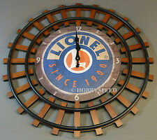 LIONEL RAILROAD CLOCK TRAIN ROOM SIGN battery powered logo rr track 9-33044 NEW