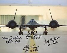 Blackbird SR71 crew x 4 hand signed photo & certificate UACC AFTAL