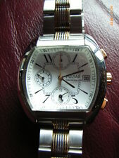 Pulsar Chrono Kaliber 7T62, tonneauform, Originalband two tone, wie NOS, top!
