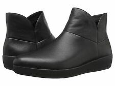 FitFlop Supermod Soft Leather Ankle Boot, Black, Women Size 8.5, $170