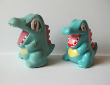 "Pokemon lot of 2 Totodile coin bank stress ball figures toys 3"" Japan import"