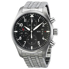 IWC Pilots Chronograph Automatic Stainless Steel Mens Watch IW377704