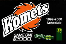 1999-00 FORT WAYNE KOMETS MINOR LEAGUE HOCKEY POCKET SCHEDULE