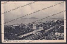 LATINA FORMIA 23 INTERNO STAZIONE - FERROVIA TRENO Cartolina viaggiata 1934