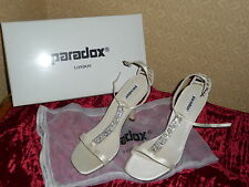 BNIB IVORY DUCHESSE SILK BRIDAL SHOES BY PARADOX-SIZE 40-UK6.5