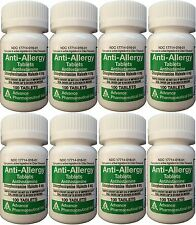 Chlorpheniramine 4 mg Allergy Generic for Chlor-Trimeton 100/Bottle  PACK of 8