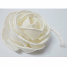 Big Size Rose Handmade Wedding House Flower White Sola Wood Reed Diffuser #SW026