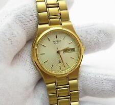"CITIZEN 80's,Midsize ""Wallpaper Dial"" SS/GP Band,MENS/UNISEX WATCH 272,L@@K!"