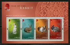 HONG KONG SOUVENIR SHEET SCOTT#1430a YEAR OF THE RABBIT LOT OF 50 MINT NH