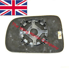 HONDA CRV 1997- 2006 DRIVER SIDE WING MIRROR GLASS SILVER,HEATED & BASE PLATE