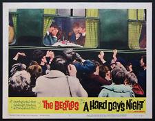 A HARD DAY'S NIGHT FOUR BEATLES ON TRAIN 1964 LOBBY CARD #4
