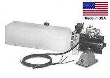 COMMERCIAL Hydraulic DC Power Unit - 4 Way Function - Horizontal Mount 0.86 Gal