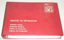 Werkstatthandbuch Simca 1300 + 1500, Baujahre 1963 - 1966