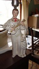 Vintage Lamp Guitar Player with pet
