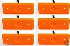 6 piezas 12V 4 LED Lateral Marcador Naranja ámbar Luces para Iveco Mercedes Fiat