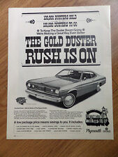 1970 Plymouth Gold Duster Ad  Rush is On