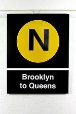 new york subway sign N line Brooklyn to queens MTA product NY underground