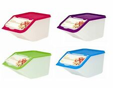 4 x Cereal Dispenser Store Storage Box Kitchen Lid Foods Rice Pasta Container