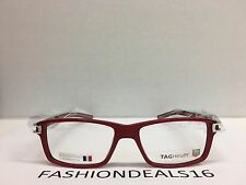 New Tag Heuer w/TAGS 7601 Track S Red Black TH7601 005 55mm Optical Eyeglasses