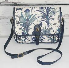 GUCCI~TEAL BLUE~VINTAGE~BUTTERFLIES~FLORAL~CROSS-BODY PURSE~SHOULDER BAG (RARE)