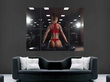 Sexy girl poster hot weightlifting bum poids gym fitness art mural grande image