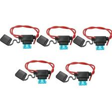 5x 15A Amp Waterproof In Line Standard Blade Fuse Holder + 5 Fuses For Car Bike